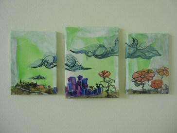 """""""Flowers From Our Past Blooming In Our Future"""" Oil on canvas."""