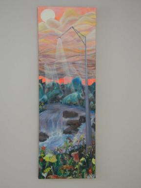 """""""Brite My Way"""" Oil on canvas."""