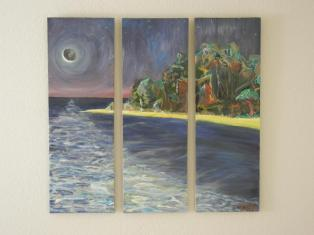 """Midnight Tide"" Oil on canvas."
