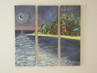 """Midnight Tide"" Oil on canvas."
