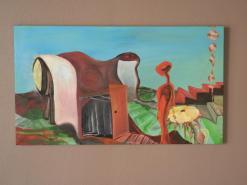 """""""Pathways"""" Oil on canvas."""
