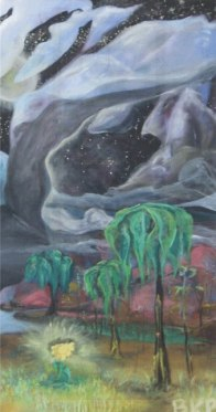 """""""Silver Lining"""" Oil on canvas."""