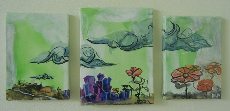 Oil and Acrylic BKP Art Painting