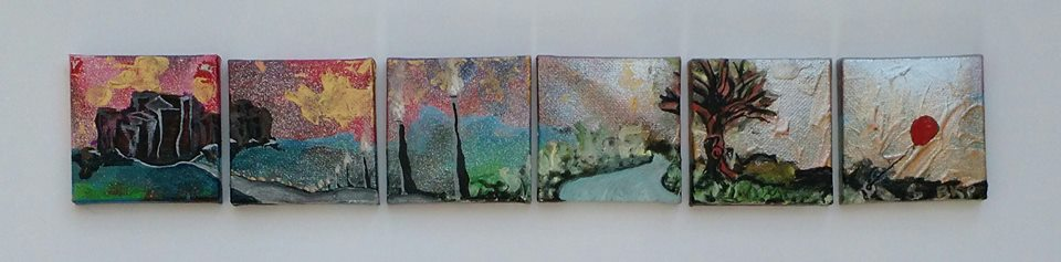 Mini Canvas BKP Art multimedia Painting