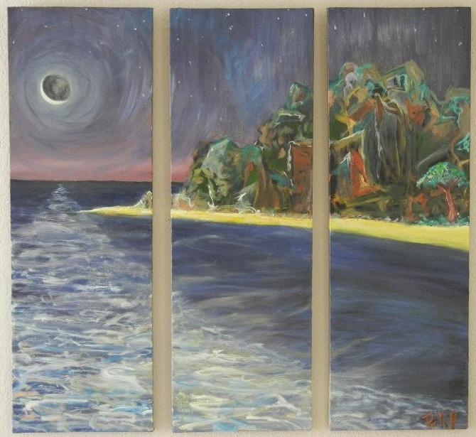 BKP Art Original Oil Painting on Multi Canvas